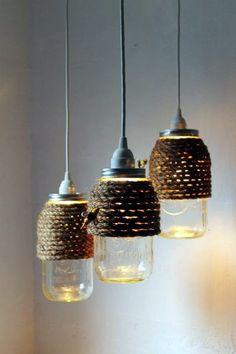 18 Ejemplos de lámparas caseras que son mejores que los productos del mercado – manos a la obra