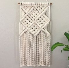Macrame Wall Hanging / Modern Macrame / Tapestry by JoyLoopDesign