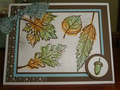 "Gently Falling stamp set 25% off through Oct 28th - card by Jess B. . . Creative ""Card""- iology"