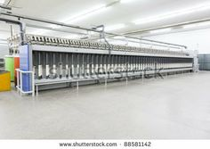 Wool Spinning Mills | spinning a weaving machines in a textile mill, textile factory, yarn ...