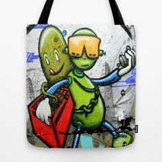 Graffiti Spacey Tote Bag by Fine2art - $22.00