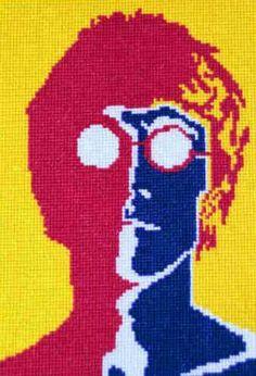 John Lennon cross stitch