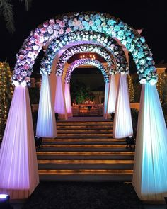 Magical Entrance Decor Ideas to Quirk up your Wedding Walkway - The Effective Pictures We Offer You About diy face mask sewing pattern A quality picture can tell - Wedding Walkway, Wedding Gate, Wedding Reception Entrance, Wedding Stage Backdrop, Wedding Backdrop Design, Desi Wedding Decor, Wedding Hall Decorations, Wedding Stage Design, Marriage Decoration