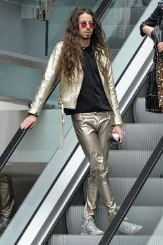 Michał szpak piękne oczy Blond, Leather Pants, Music, Fashion, Leather Jogger Pants, Musica, Moda, Musik, Fashion Styles