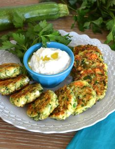 kolokythokeftedes - gluten free zucchini feta balls - Hungry Happens!