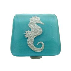 Seahorse Glass Knob By Uneek Glass Fusions. Turquoise Coastal Glass Cabinet  Knob. Beachy Home