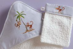 gordonsbury on safari  hoodedtowel and mitt  handembroidered  handmade Hot  Pads edb8a9231