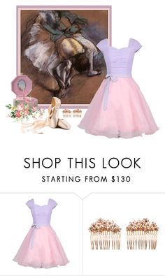 """""""Ballet d'Edgar Degas - French Master Mimicry"""" by flowerchild805 ❤ liked on Polyvore featuring Gripoix"""