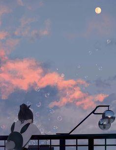 e-shuushuu kawaii and moe anime image board Animes Wallpapers, Cute Wallpapers, Aesthetic Anime, Aesthetic Art, Bts Art, Anime Scenery, Anime Art Girl, Aesthetic Wallpapers, Cool Art