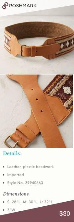 Anthropologie Sagada Belt NWT   Please see last pic for info. Anthropologie Accessories Belts