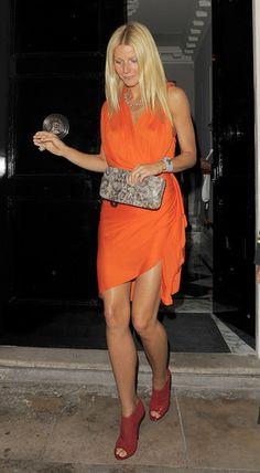 Gwyneth Paltrow - orange + red