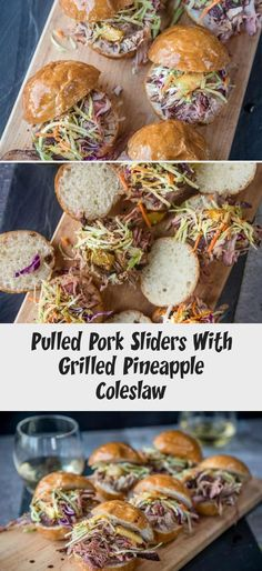 Sweet and savory Smoked Pulled Pork Sliders recipe has Asian-meets-Hawaiian flavors with an Asian inspired dry rub, soy glaze, and grilled pineapple coleslaw. Pulled Pork Sliders, Smoked Pulled Pork, Juicy Pork Chops, Grilled Pork Chops, Pineapple Coleslaw, Smoked Pork Shoulder, Healthy Meat Recipes, Slider Recipes, Hawaiian