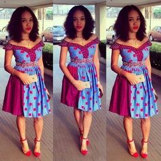 Lovely Ankara Gown Style www.c… by Zahra Delong - 2019 Trends Kente Styles, Ankara Gown Styles, Latest Ankara Styles, Ankara Gowns, Ankara Dress, Dress Skirt, African Dresses For Women, African Fashion Dresses, African Attire