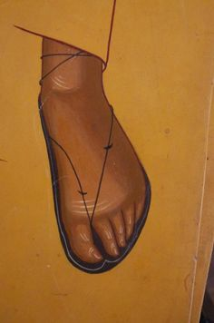 Pie con sandalia