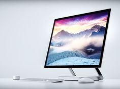Microsoft unveiled a new all-in-one touchscreen desktop computer at a media event today.