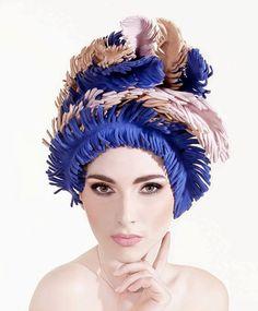 """Exclusive Couture Wreath  """"La Romance De Paris""""  by Lallu Chic Couture Millinery"""