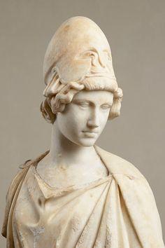Detail: the Myron Athena from Rome, Gardens of Lucullus   Augustan replica after a classical, bronze group of the period. ca. 450 BC   Liebieghaus Skulpturensammlung, Frankfurt am Main