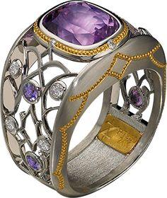Lavender Sapphire Ring.  Zoltan David Jewelry.