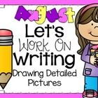 Introduce your students to drawing detailed pictures. Choose one of the pages to do together. Discuss how detailed pictures will have at least 5 di...