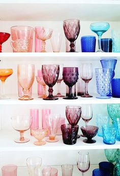 best of: cheers to colored glassware.