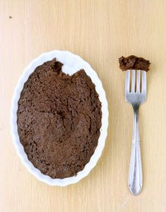 Single Serving Brownies (Vegan/Gluten Free/Low Carb)  Serving size: the whole darn recipe Calories: 60 Fat: 1 gram
