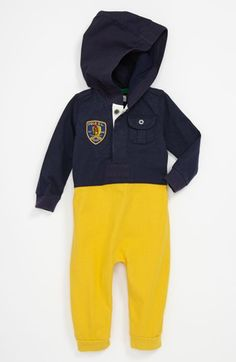 44131b750 Ralph Lauren Romper (Baby Boys) available at  Nordstrom Baby Boy Romper