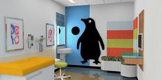 Love this idea for an exam room at The Center.
