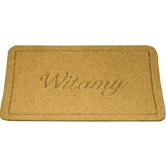 """Doormat - Witamy (Welcome), Light Beige Color 15x23 inches by Polish Souvenirs. $29.95. Measures approx: 15.75"""" x 23.6"""" x 1.0"""". Made of natural fibers. Features the Polish welcome greeting Witamy. Made in Poland. Welcome your guests and family at your front door with this unique doormat featuring the Polish welcome greeting Witamy. A very durable doormat made natural fibers of a light beige color that has a flexible non-skid bottom layer. The mat is easy to keep clean.  Doormat..."""
