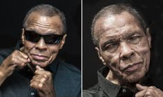 Raising his fists for the final time: Haunting last portrait of Muhammad Ali reveals the devastating effects of Parkinson's...but boxing legend still manages to smile like a true champion | Daily Mail Online