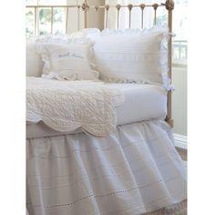 Elisa+Egg-White+Crib+Bumper+Set+[2301ELEW-BMP]+-+$264.00+:+The+Painted+Cottage,+Vintage+Painted+Furniture