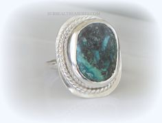 TURQUOISE RING  Sterling Silver and Turquoise  by SurrealTreasures