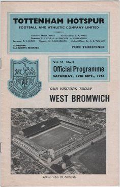 Vintage Football Programme - Tottenham Hotspur v West Bromwich Albion, 1964/65 season, by DakotabooVintage, £3.99