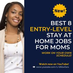 Stay at home mom? Here are the best 8 entry-level jobs for you! Work on your own schedule from home. Earn Money Online Fast, Earn Money From Home, Stay At Home, Work From Home Companies, Work From Home Jobs, Home Based Work, Customer Service Jobs, Typing Jobs, Virtual Assistant Jobs