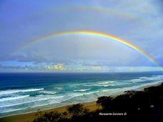 Double Rainbow Across the Sky and Over the Sea | Sunrise...Travel ...