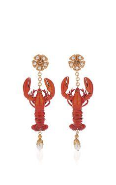 Lobster Earrings by DOLCE & GABBANA for Preorder on Moda Operandi