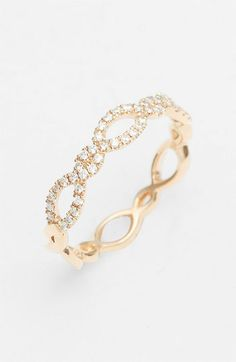 Bony Levy Stackable Diamond Weave Ring (Nordstrom Exclusive) | Nordstrom. So dainty and lovely!