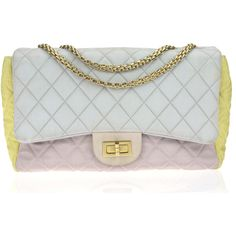 Pre-owned Chanel Pastel Color Block Reissue 226 Flap Bag (25.235.875 IDR) ❤ liked on Polyvore featuring bags, handbags, colorblock handbags, chain shoulder bag, chanel, chanel purses and color block purse
