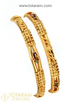 Gold Bangles for Women in Gold -Indian Gold Jewelry -Buy Online Gold Chain Design, Gold Ring Designs, Gold Bangles Design, Gold Jewellery Design, Plain Gold Bangles, Gold Bangles For Women, Gold Jewelry Simple, Bangle Set, Accessories