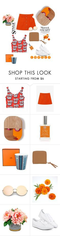 """""""The 2 K look"""" by erisha-shefer ❤ liked on Polyvore featuring Monki, Antica Farmacista and Hermès"""