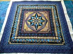 Isn't this a beautiful medallion quilt?
