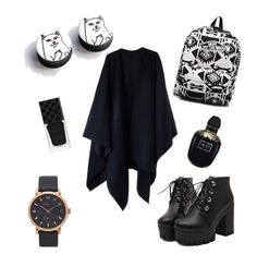 """""""go away"""" by ann-vovk on Polyvore featuring Acne Studios, Vans, Marc Jacobs, Gucci, Alexander McQueen, look, plugs and goawaycat"""