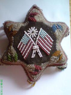 "AMAZING..Patriotic ""beaded"" pincushion, love this!"
