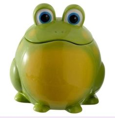 Amazon.com: Out on a Whim Ceramic Green Frog Cookie Jar: Kitchen & Dining