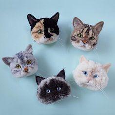 Look At These Amazing Animal Pom-Poms Cat Crafts, Animal Crafts, Easy Diy Crafts, Diy Crafts Videos, Diy Crafts To Sell, Diy Crafts For Kids, Sewing Crafts, Unicorn Crafts, Preschool Crafts