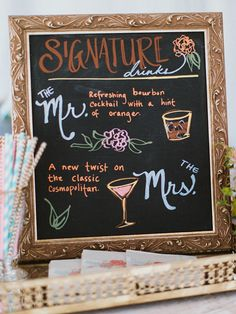 18 Chalkboard Wedding Sign Ideas | TheKnot.com