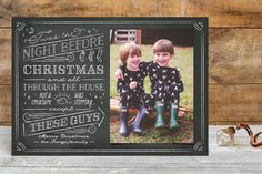 The Night Before Holiday Postcards by Ann Gardner at minted.com