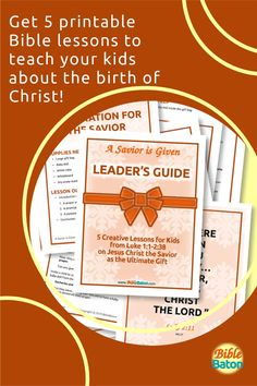 Present Jesus the Savior to Kids as the Ultimate Gift! Then challenge them to accept that gift this holiday season. A Savior is Given: Leader's Guide contains five creative, detailed lesson plans to make teaching your kids about the birth of Christ easy and fun–and meaningful. Use these printable Bible lessons in your children's ministry, Sunday School class, or church pageant this Christmas! Click through for details. Bible Lessons, Sunday School, Savior, Pageant, Ministry, Lesson Plans, Birth, Holiday, Christmas