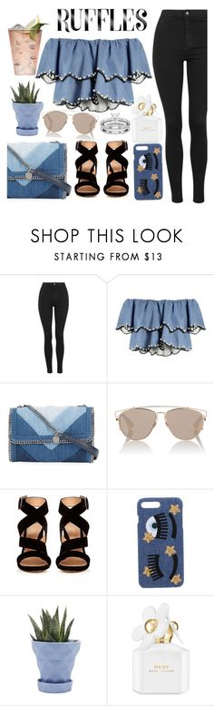 """Untitled #1752"" by mihai-theodora ❤ liked on Polyvore featuring Topshop, Margarita, HUISHAN ZHANG, STELLA McCARTNEY, Christian Dior, Gianvito Rossi, Chiara Ferragni, Chive and Marc Jacobs"