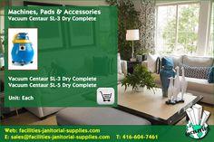 Toronto Distributor | Machines, Pads & Accessories: Vacuum Centaur SL-3 Dry Complete