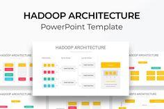Hadoop Architecture PowerPoint Diagram Dashboards, Big Data, Color Themes, Bar Chart, Diagram, Templates, Architecture, Arquitetura, Stencils